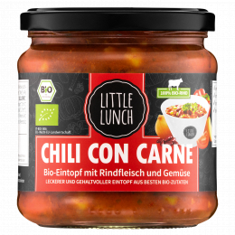 Little Lunch Bio Chili con Carne 350 ml (1 Glas)