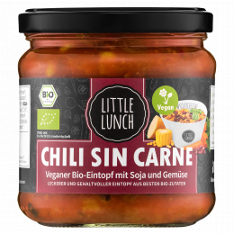 Little Lunch Bio Chili sin Carne 350 ml (1 Glas)
