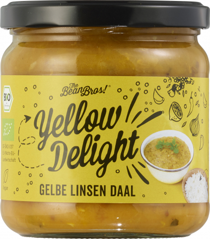 The Bean Bros - Gelbe Linsen Daal Yellow Delight 375g (1 Glas)