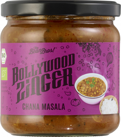 The Bean Bros - Kichererbsen-Curry mit Ingwer Bollywood Zinger 375g (1 Glas)