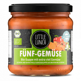 Little Lunch Bio-Suppe Fünf-Gemüse 350ml (1 Glas)